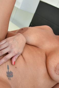 Big tit MILF Lacie takes a big dick inside her shaved wet pussy