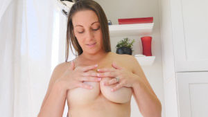 FTV MILF with big natural breasts Melanie flashing outside and fucking her vibrator